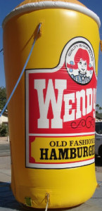 16 ft Wendy's Frosty cup inflatable